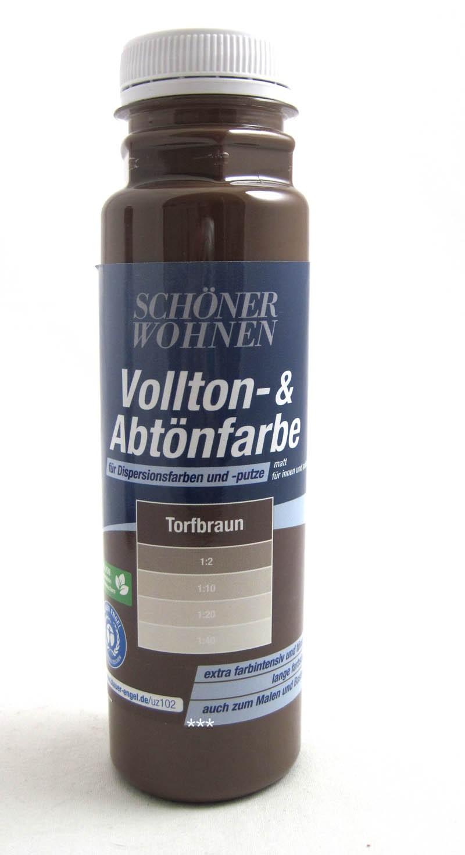 Voll- und Abtönfarbe Torfbraun 250 ml