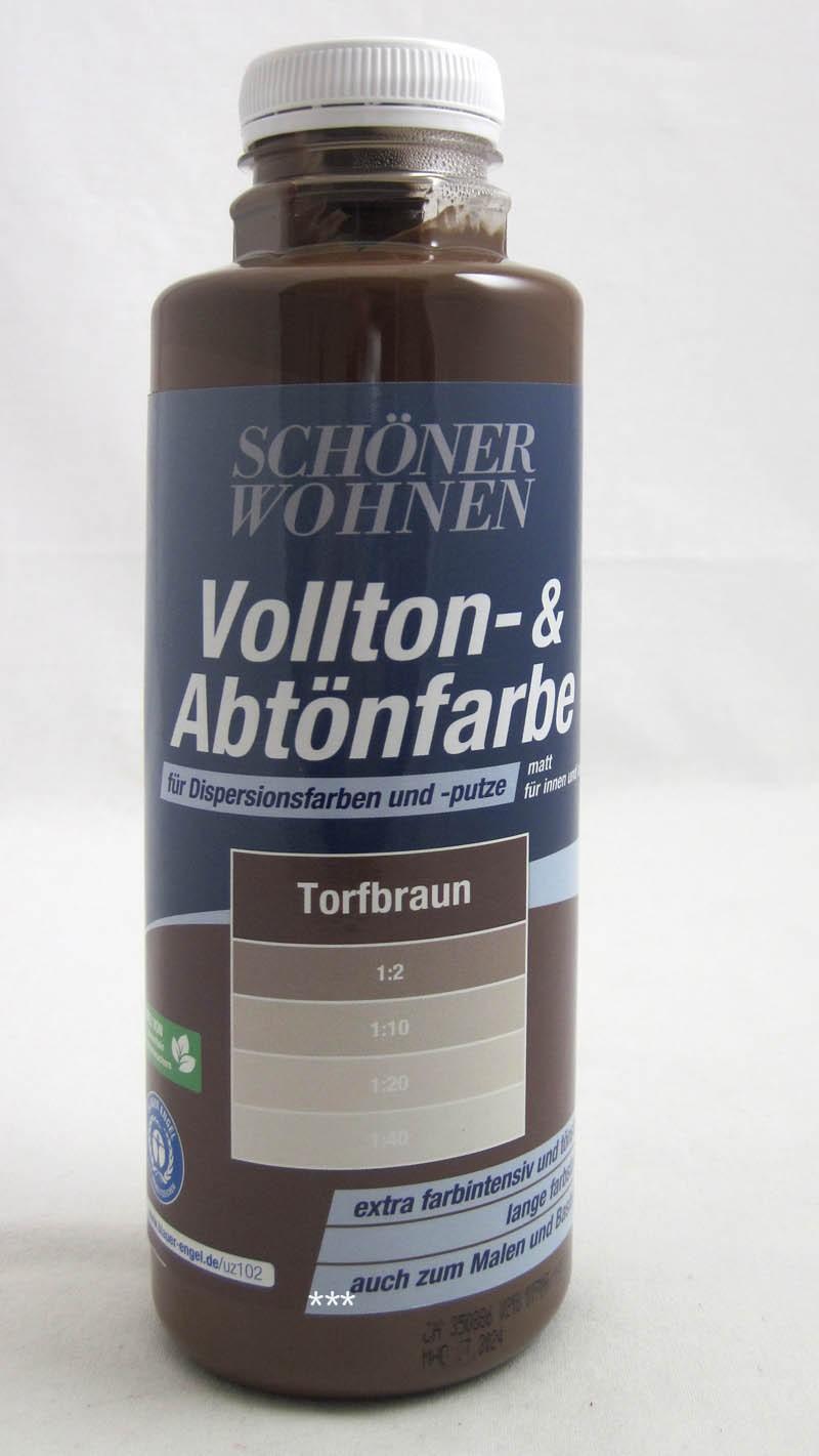 Voll- und Abtönfarbe Torfbraun 500 ml Schöner Wohnen
