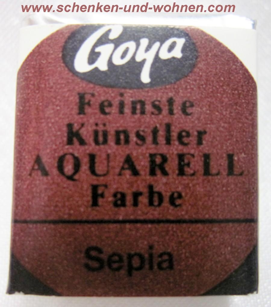 Feinste Künstleraquarellfarbe Sepia 1/2 Näpfchen Gr. 2