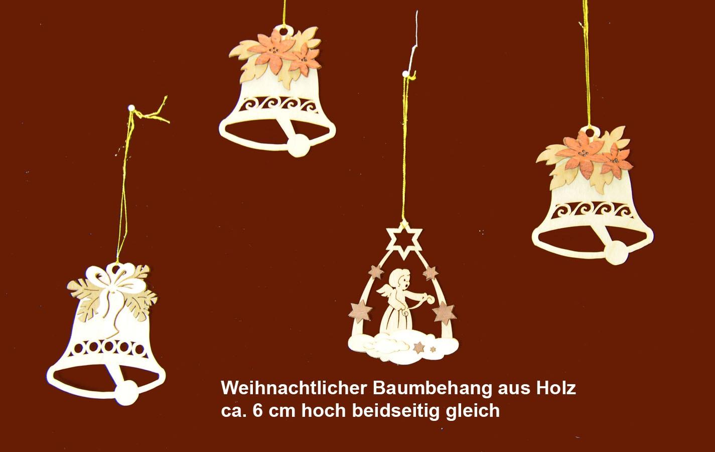 Holz-Baumbehang 1 Teil sortiert ca. 6 cm