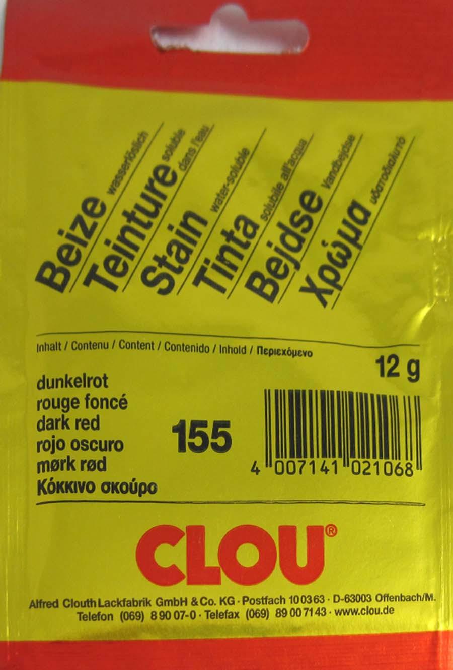 Beize dunkelrot 155 wasserlöslich 12 g Clou