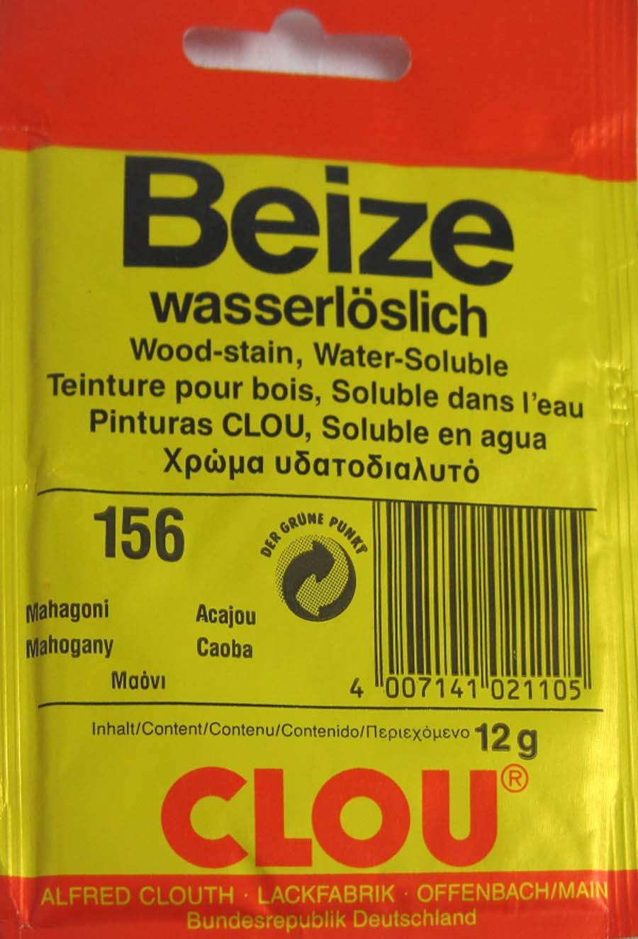 Beize Mahagoni 156 wasserlöslich 12 g Clou
