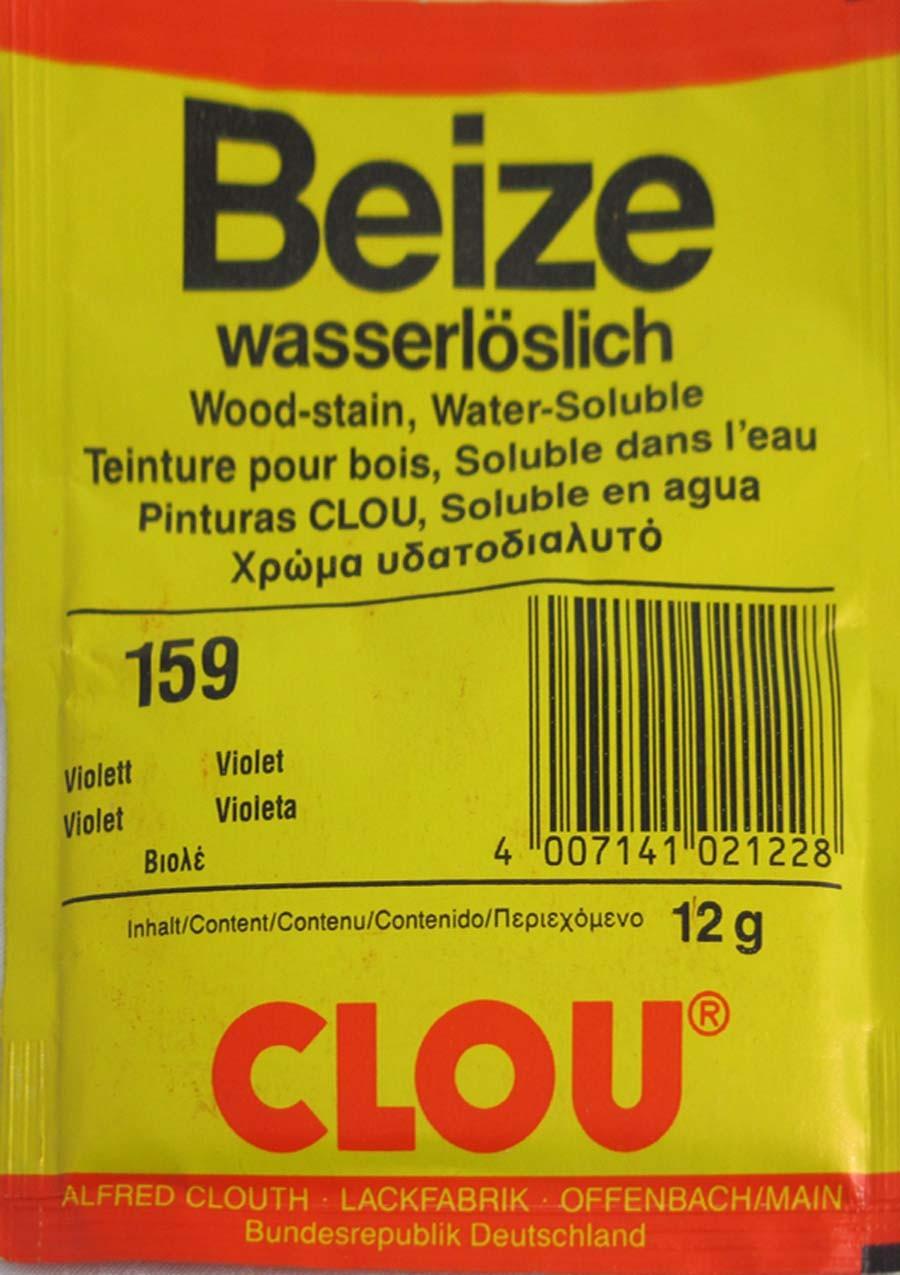 Beize violett 159  wasserlöslich 12 g Clou