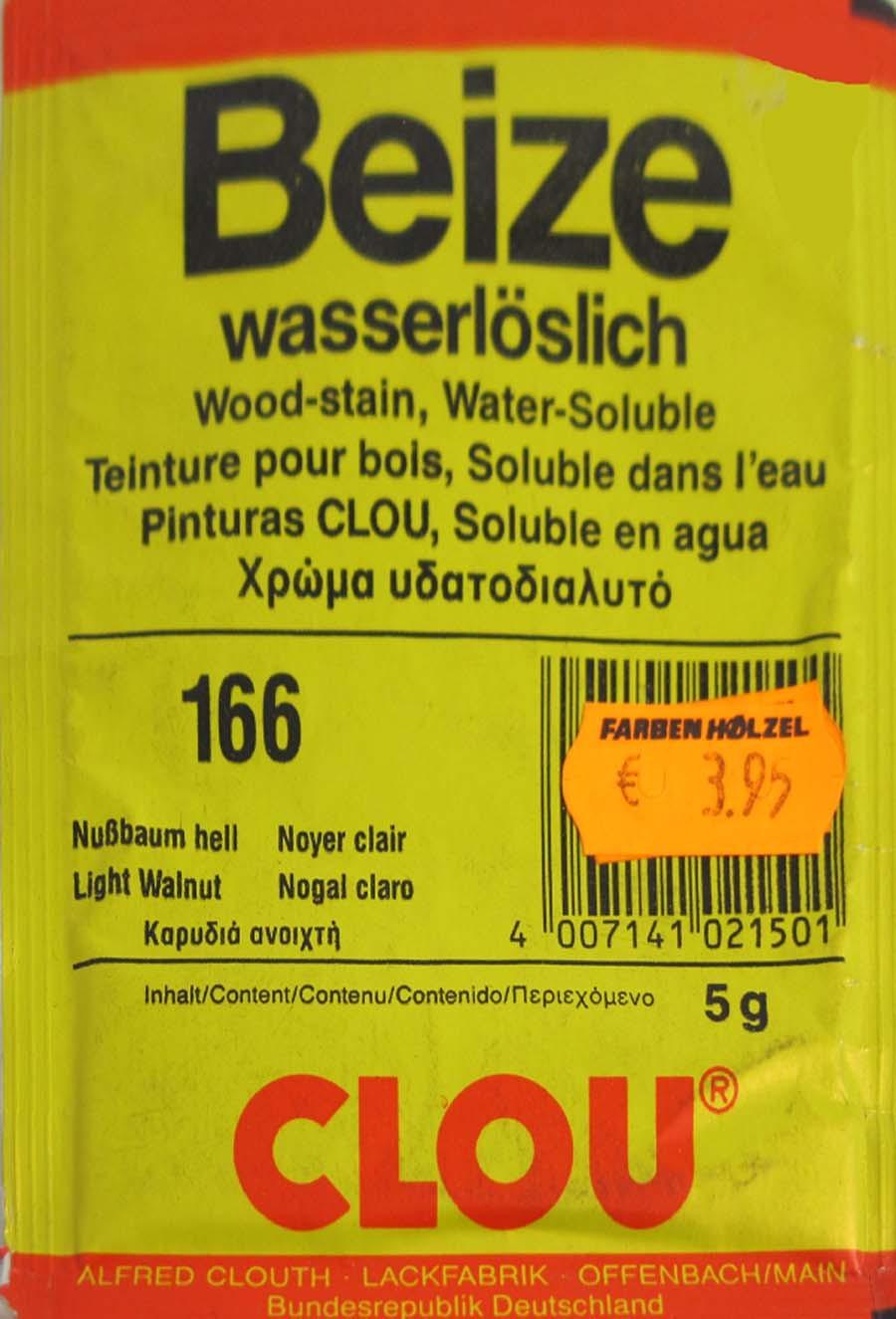 Beize Nußbaum hell 166 wasserlöslich 5 g Clou