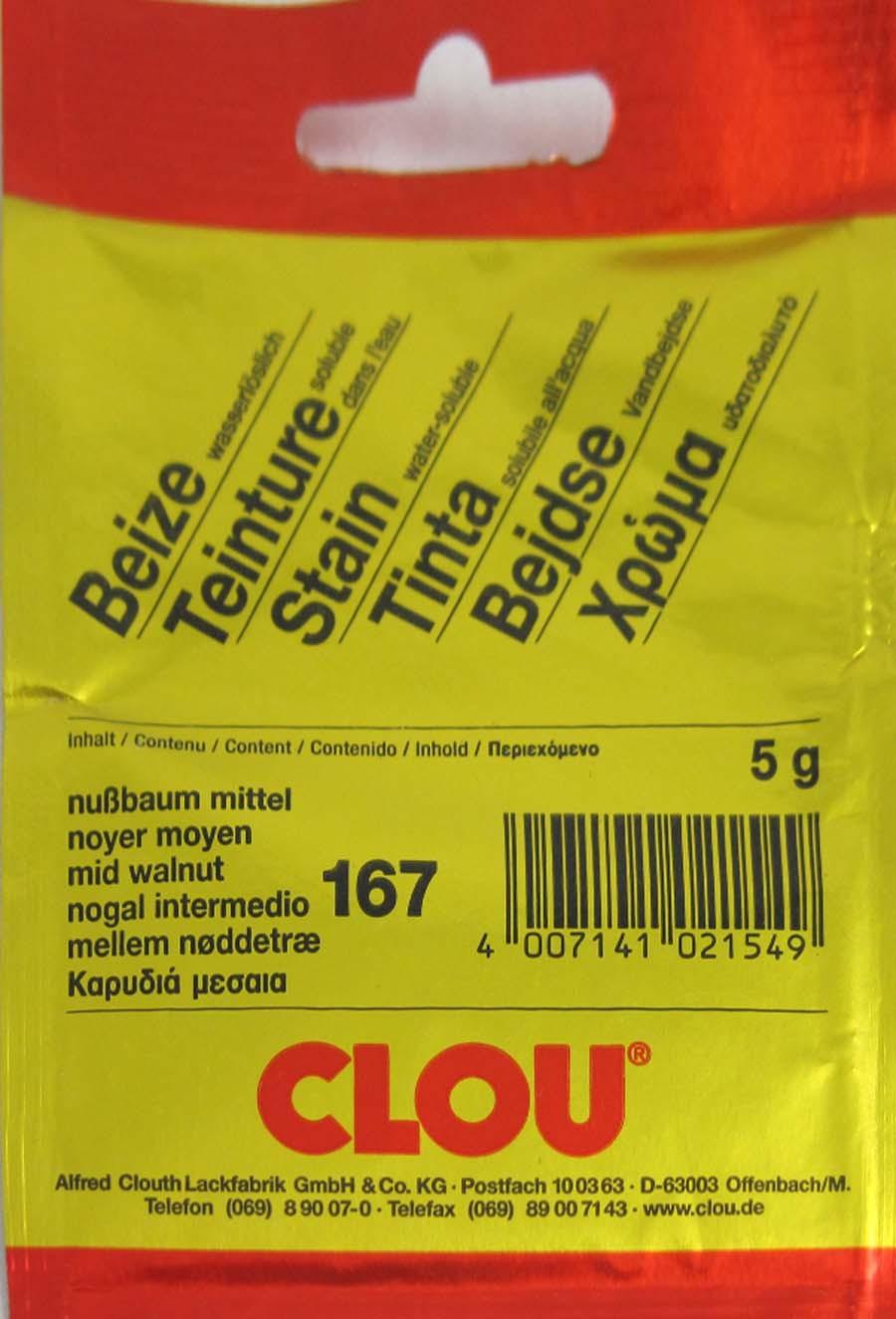 Beize Nußbaum mittel 167 wasserlöslich 5 g Clou