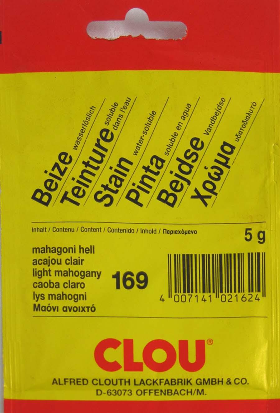 Beize Mahagoni hell 169 wasserlöslich 5 g Clou