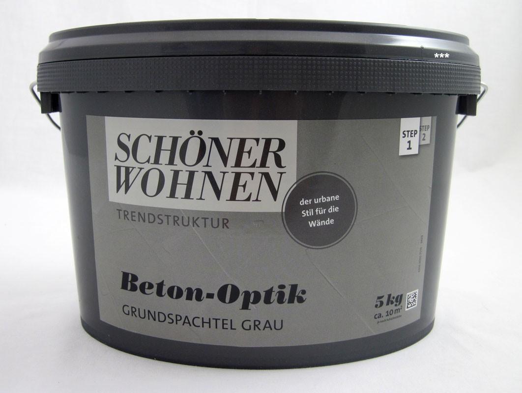 Beton-Optik Grundspachtel grau 5 kg Schöner Wohnen