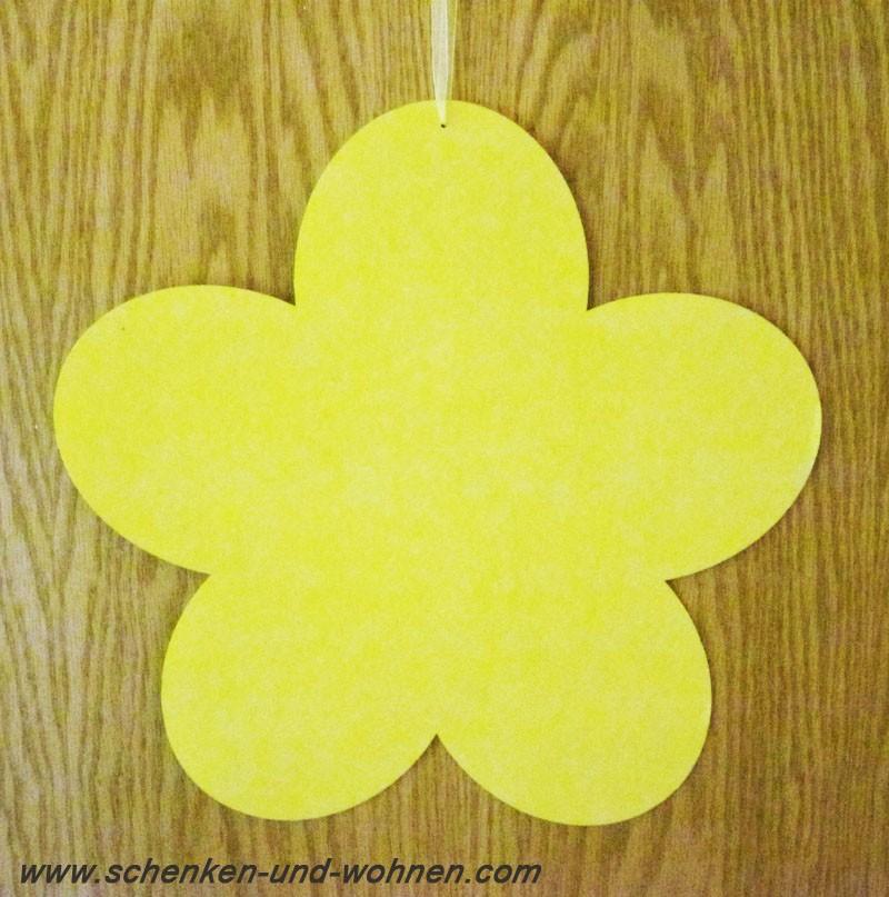 Deko - Blütenhänger Gelb, waterresistant D36cm