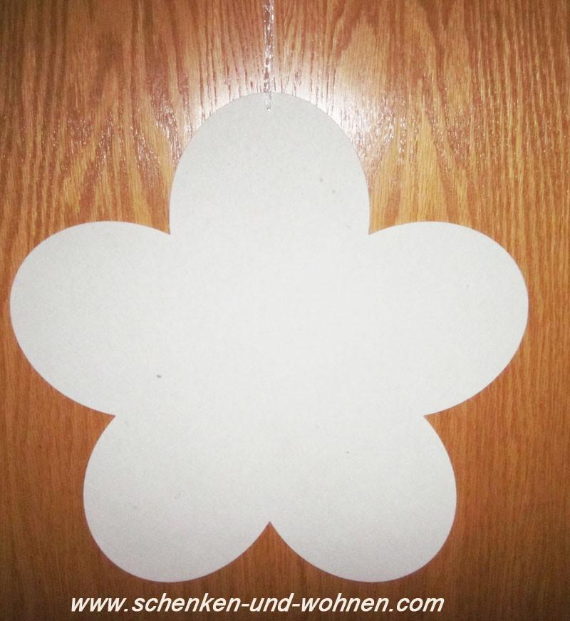 Deko - Blütenhänger Weiß, waterresistant D36cm