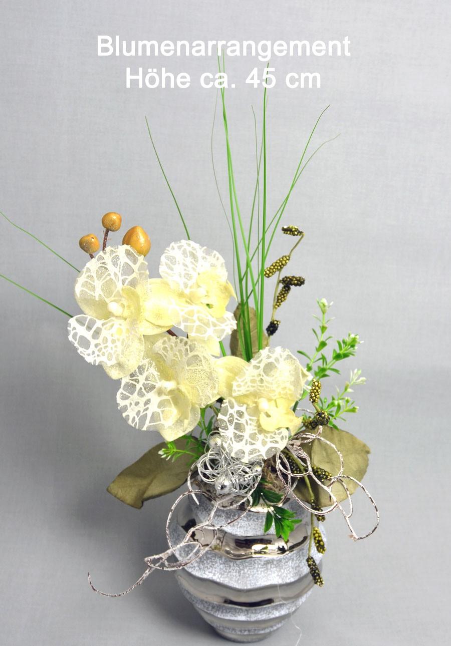 Edles Kunstblumen-Arrangement ca. 45 cm hoch