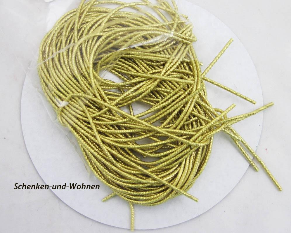 Bouillondraht - Schmuckdraht - Basteldraht gold, 100 g