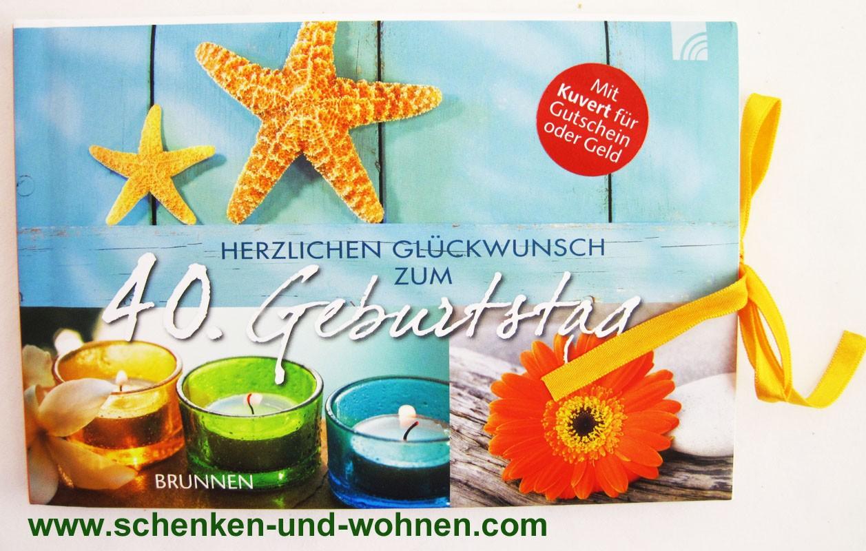 """Gutscheinbuch """"Herzlichen Glückwunsch zum 40. Geburtstag"""""""