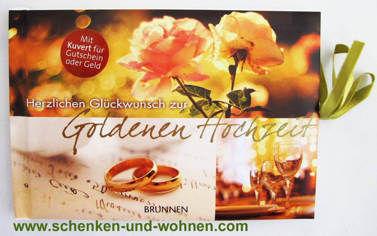 """Gutscheinbuch """"Herzlichen Glückwunsch zur Goldenen Hochzeit"""""""