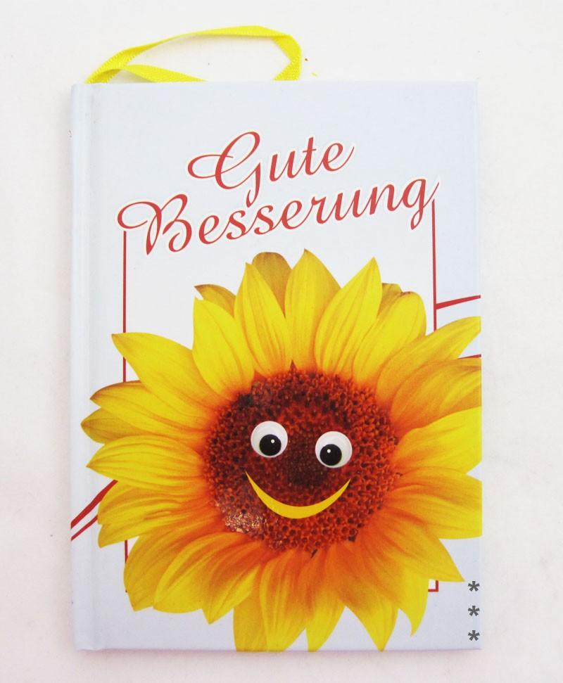 "Kleines Wünschbuch zum Anhängen ""Gute Besserung"" ca. 10,5 x 14,5 cm"