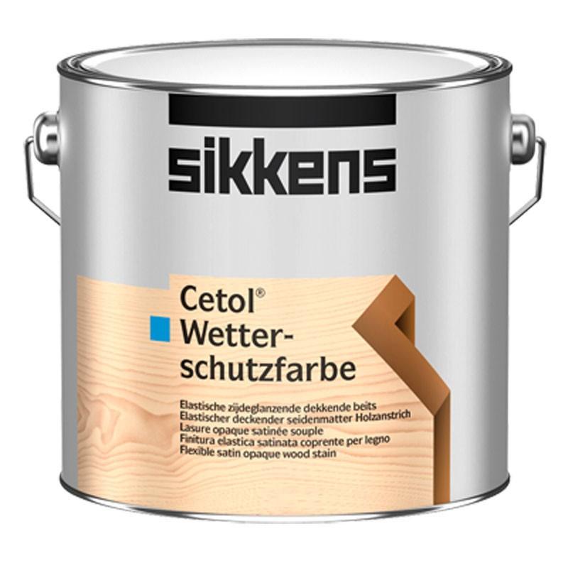 Cetol Wetterschutzfarbe Deckender Holzanstrich für außen, weiß seidenmatt 2,5 l