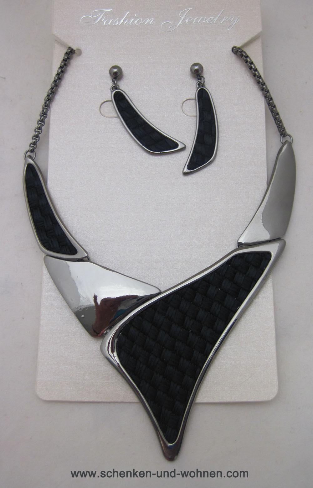 Schmuckset Collier mit Ohrringen Modeschmuck AF727851