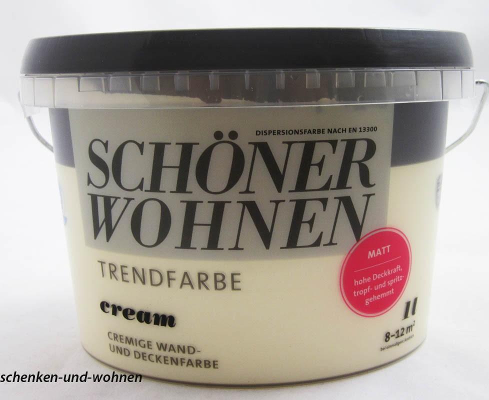 Schöner Wohnen Trendfarben- Cream matt -1 l