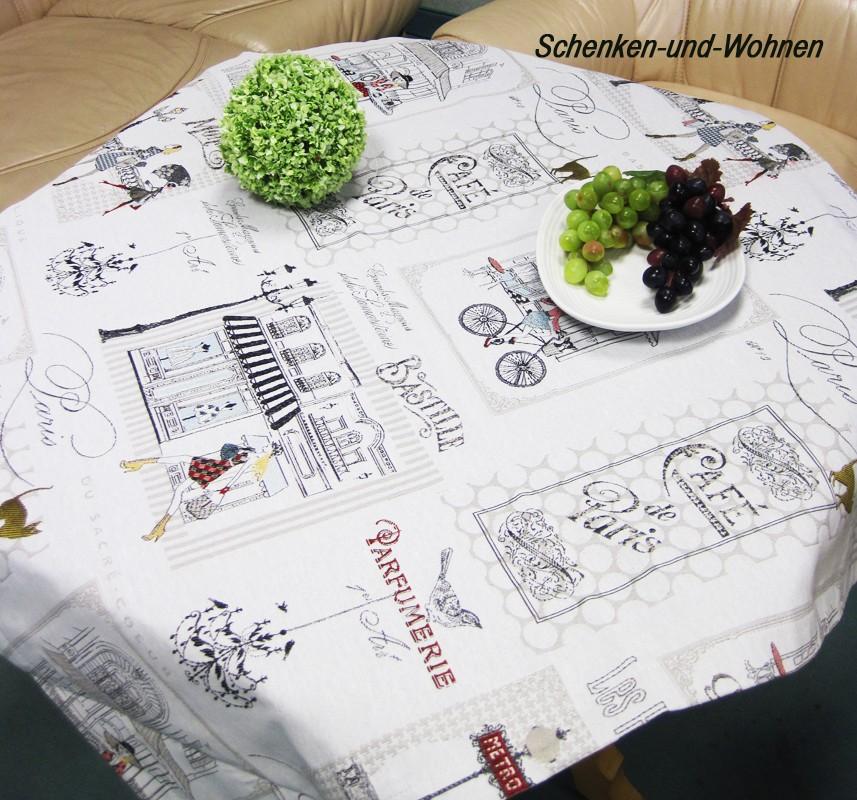 Mitteldecke - Stadtbummel - Beige, Gobelin 85 x 85 cm