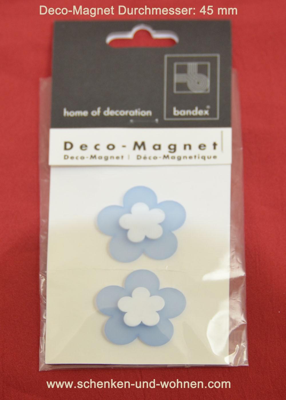 Deko-Magnet Flower hellblau