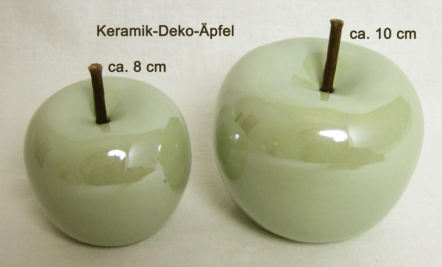 Deko Apfel klein grün Pastell ca. 8 cm Perlmutt