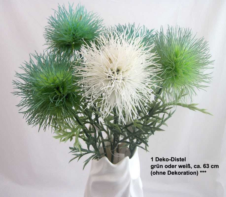 1 Deko-Distelzweig grün ca. 63 cm