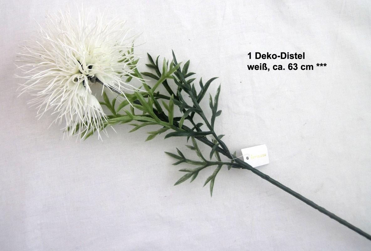 1 Deko-Distelzweig weiß ca. 63 cm