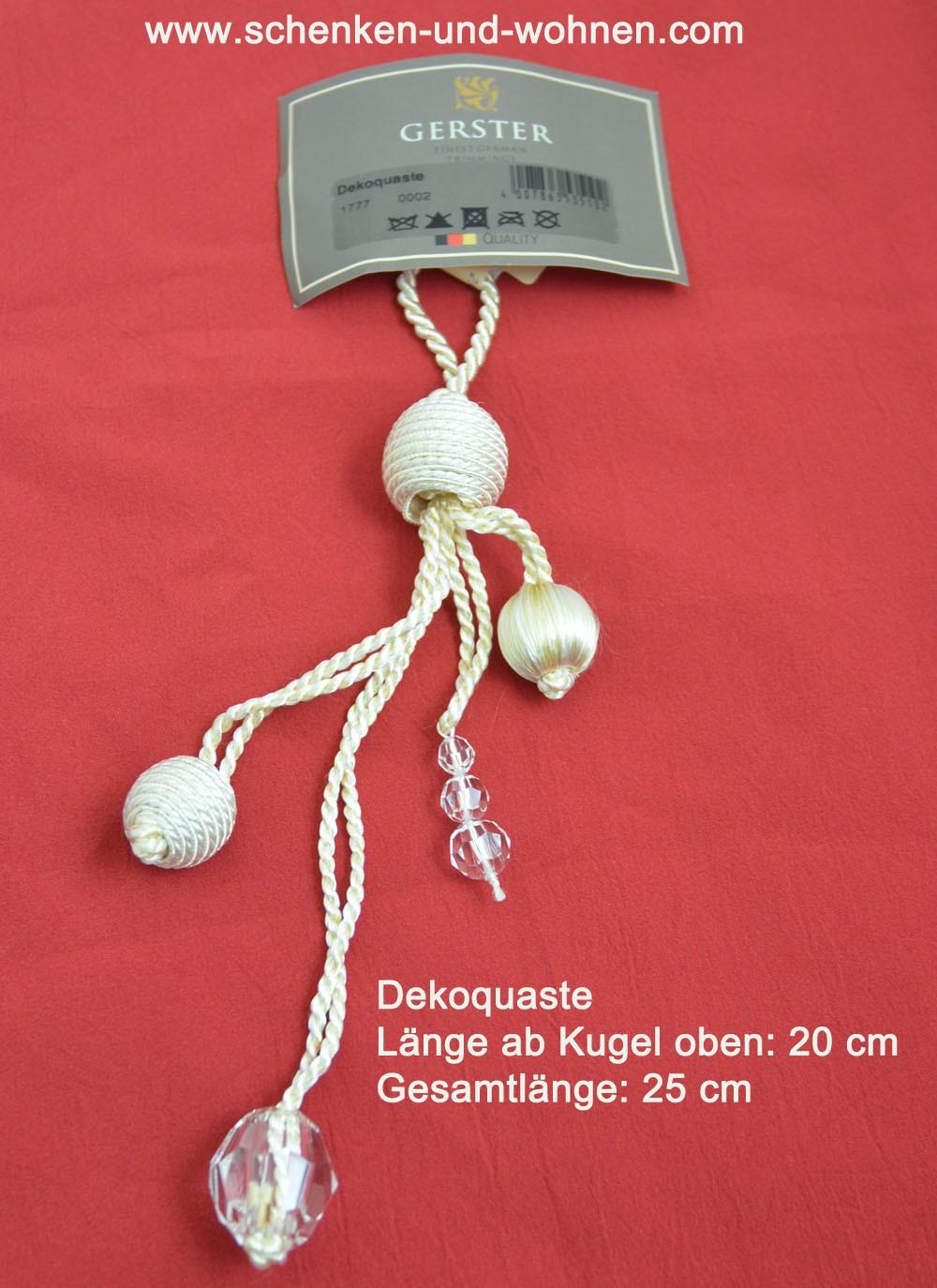 Dekoquaste Posamenten Länge ca. 19/24cm