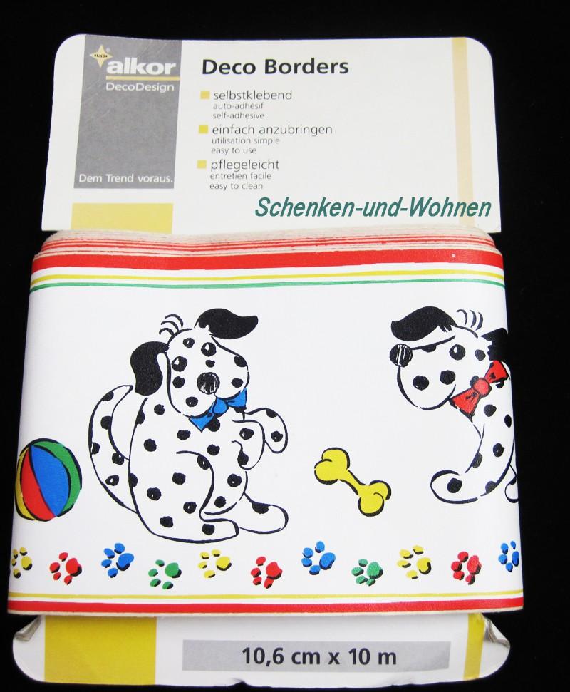 Selbstklebende Bordüre Hunde ca. 10,6 cm x 10 m