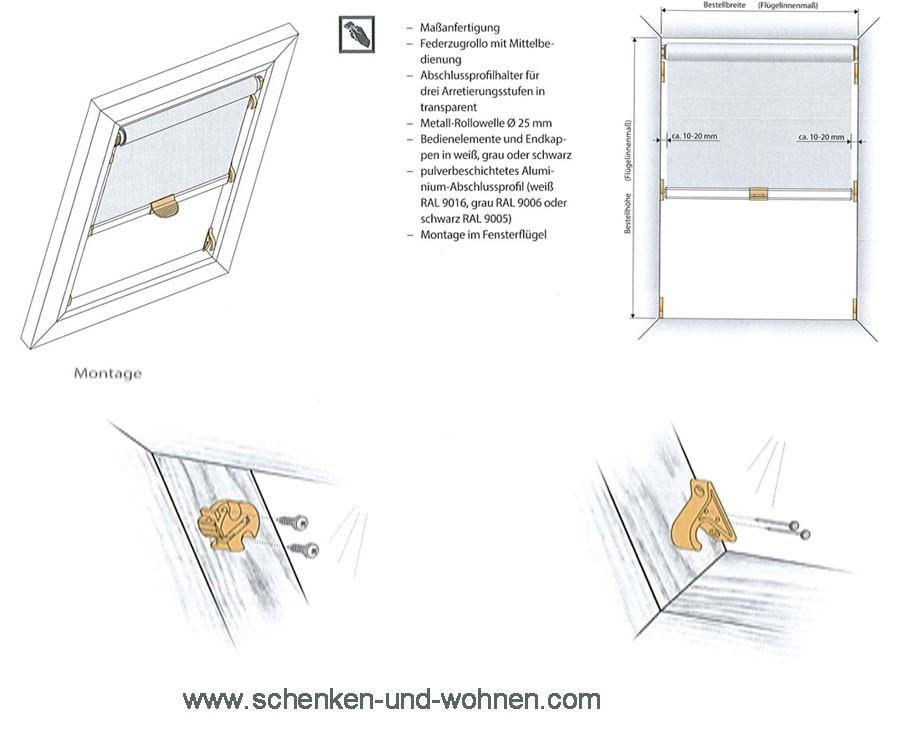 "Dachfenster - Basis - Rollo, Stoff  ""London"" gelb"