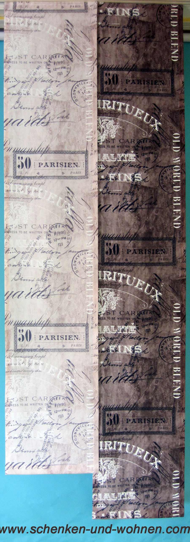 Flächenvorhang mit modernem Schriftdruck 60 x 245 cm braun
