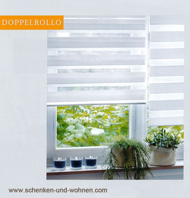 """EasyFix"" Doppelrollo Weiß 60  x 150 cm"
