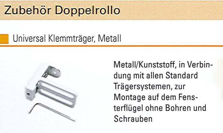 Universal Klemmträger, Metall weiß