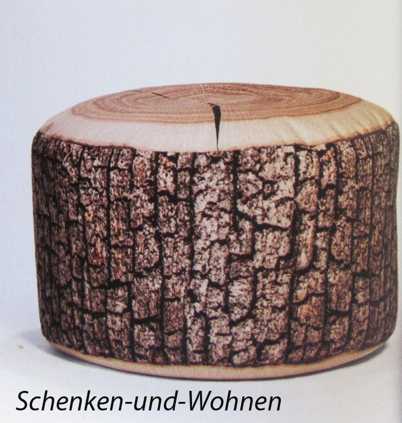 "Sitzhocker ""DotCom Wood"" Fb. 080, Naturlook ca. 50 x 30 cm"