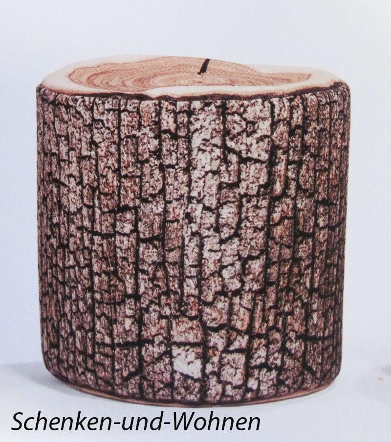 "Sitzhocker-Rolle ""DotCom Wood"" Fb. 080, Naturlook ca. 50 x 50 cm"