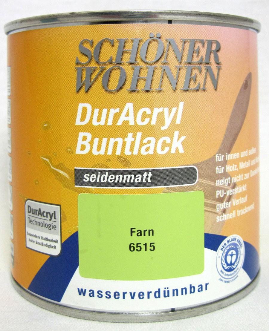DurAcryl Buntlack seidenmatt Farn 125 ml