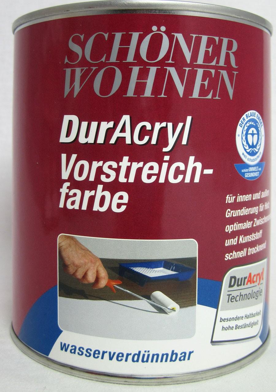 Duracryl Vorstreichfarbe weiß 750 ml für innen und außen