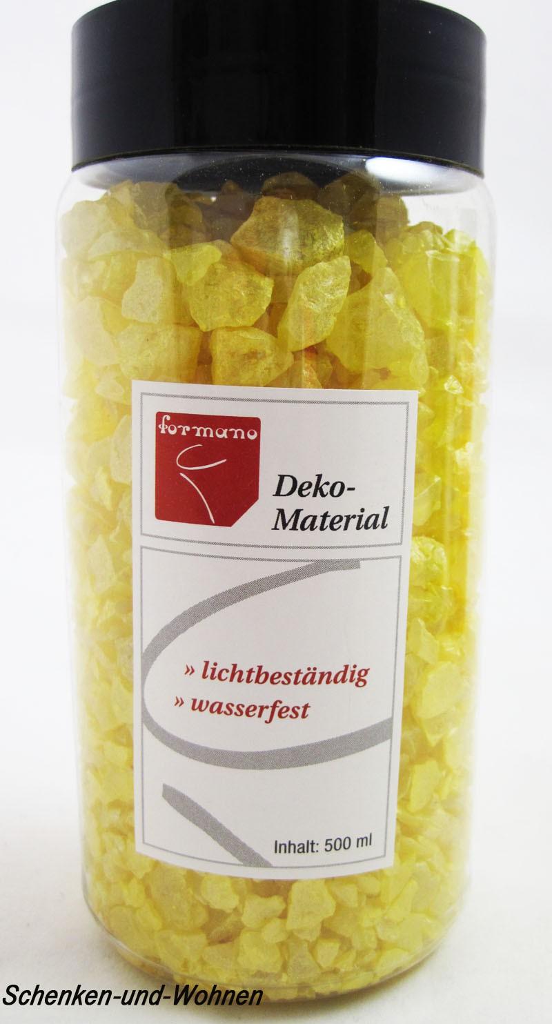 Effekt Glassteine Gelb , 500 ml Box