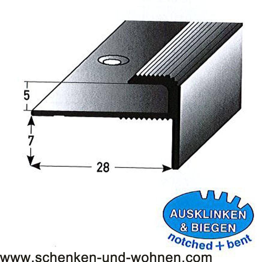 Einschubprofil 5 mm mit Nase 1 m lang Bronze dunkel