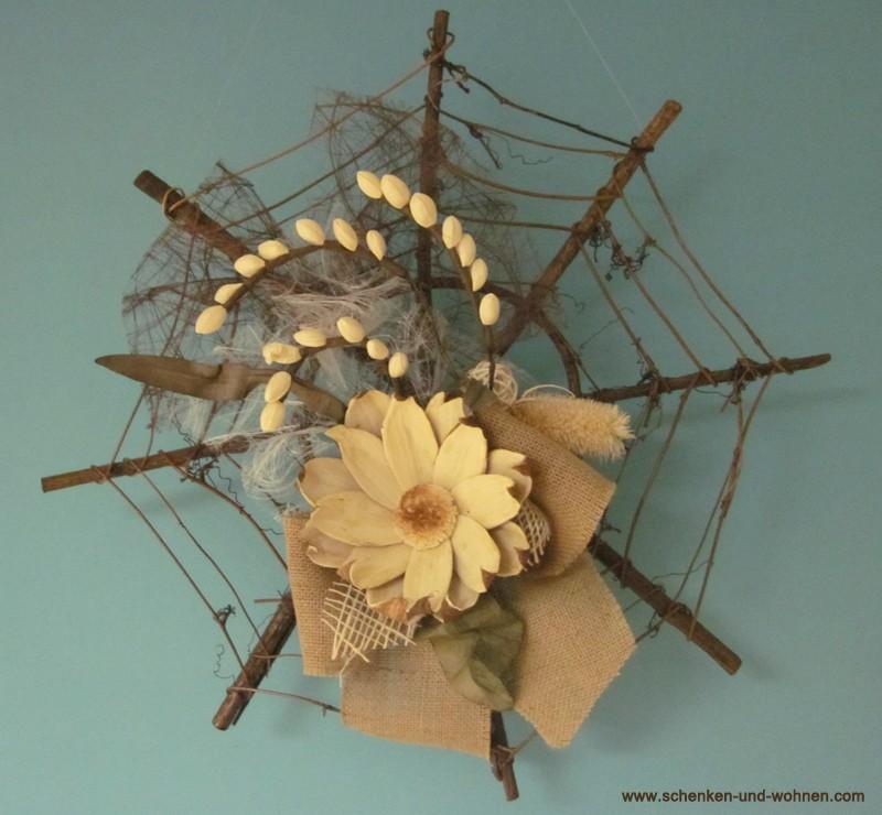 Weinrebenrahmen rund floristisch dekoriert
