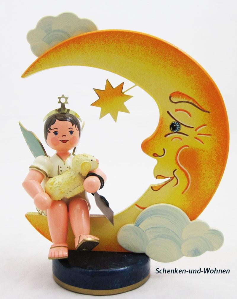 Engel mit Mond und Schäfchen 20 cm