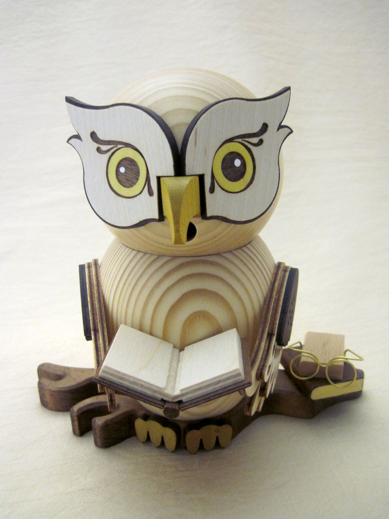 Räucherfigur Eule mit Buch
