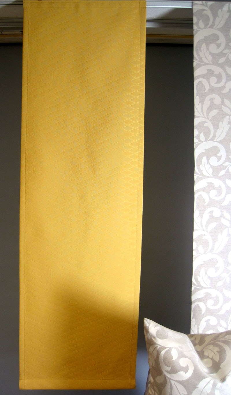 Flächenvorhang zum Kletten mit zeitlosem Rautenmuster 45 x 145 cm gelb