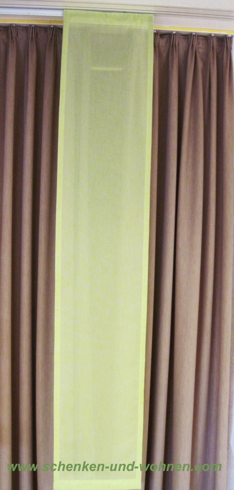 Flächenvorhang grün 37 cm breit x 200 cm hoch ( incl. Beschwerungsstab )