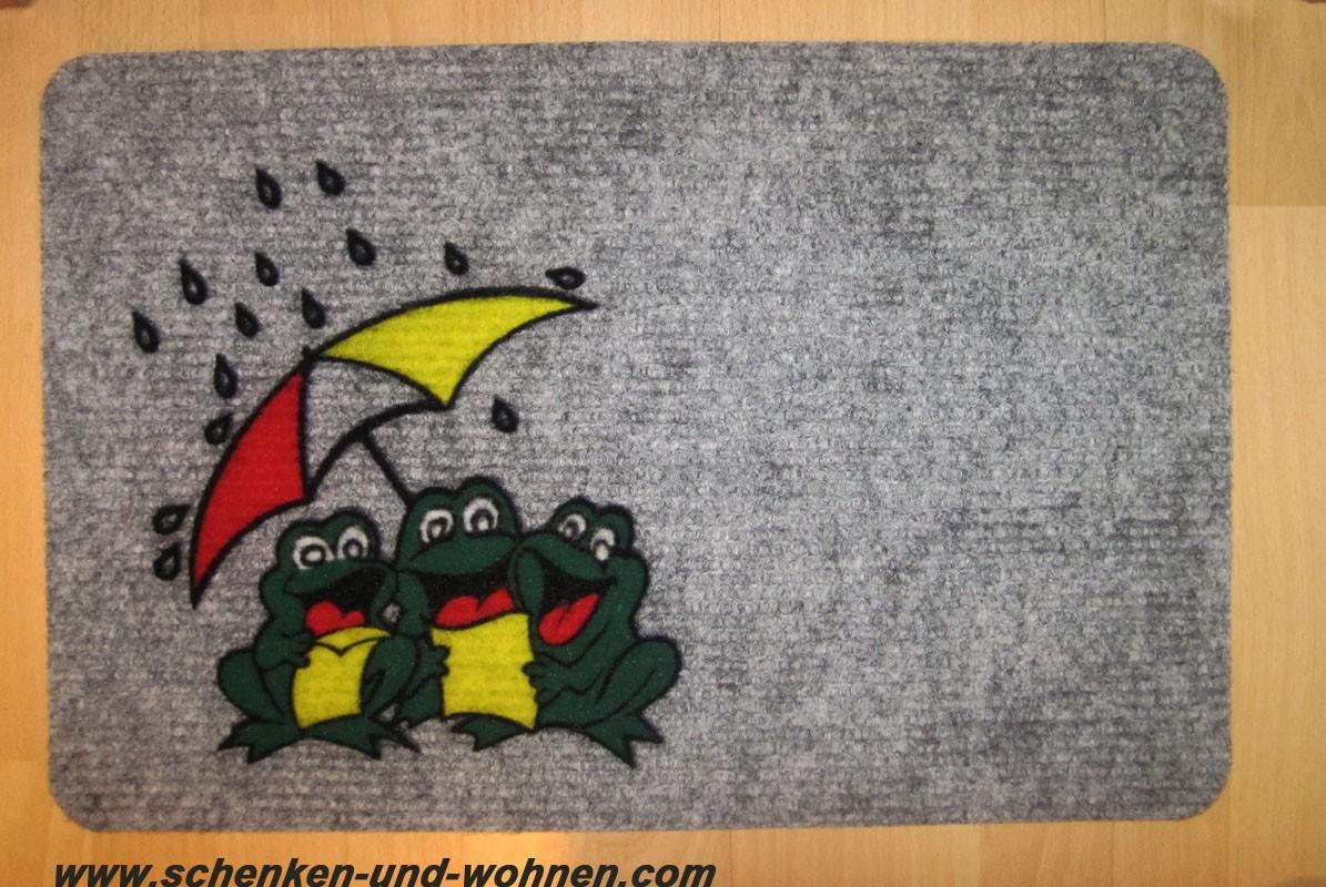 Fußmatte Flocky, Nadelfilz 084 frogs ca. 40 x 60 cm