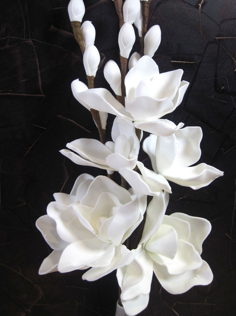 Foam Flower Basic weiss, künstlich ca. 90cm