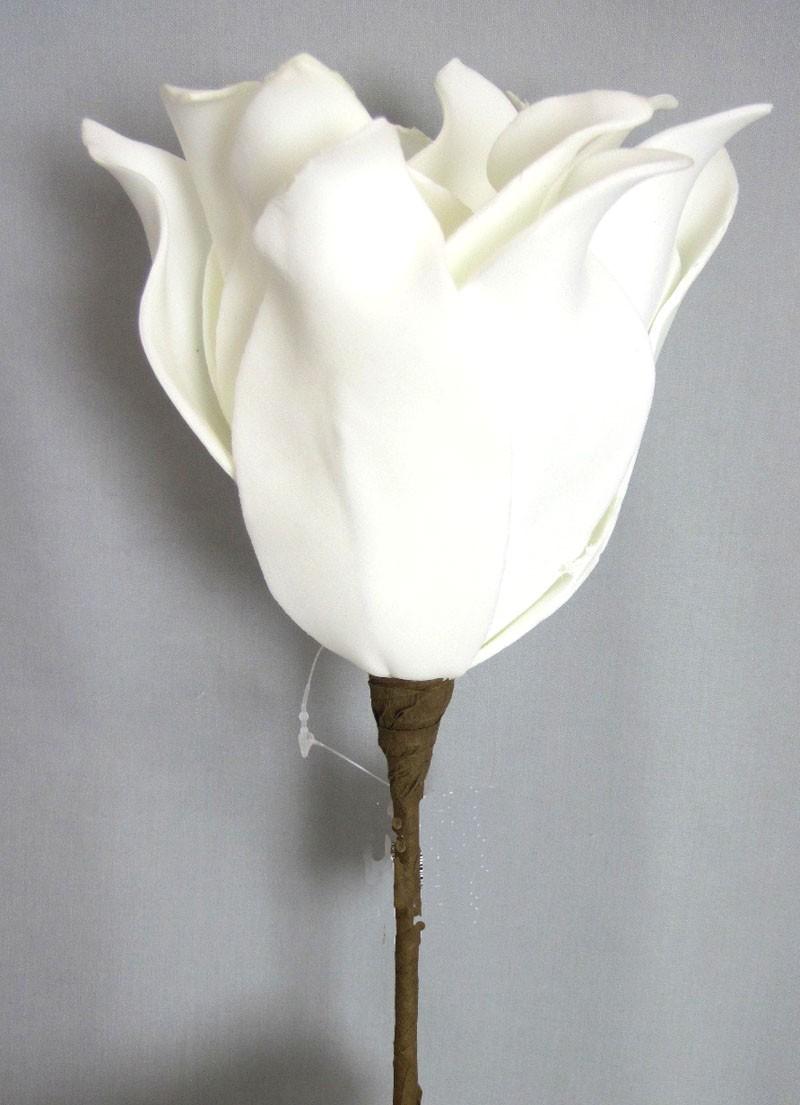 Foam Flower, künstlich weiß L.ca. 27 cm D.ca. 20cm