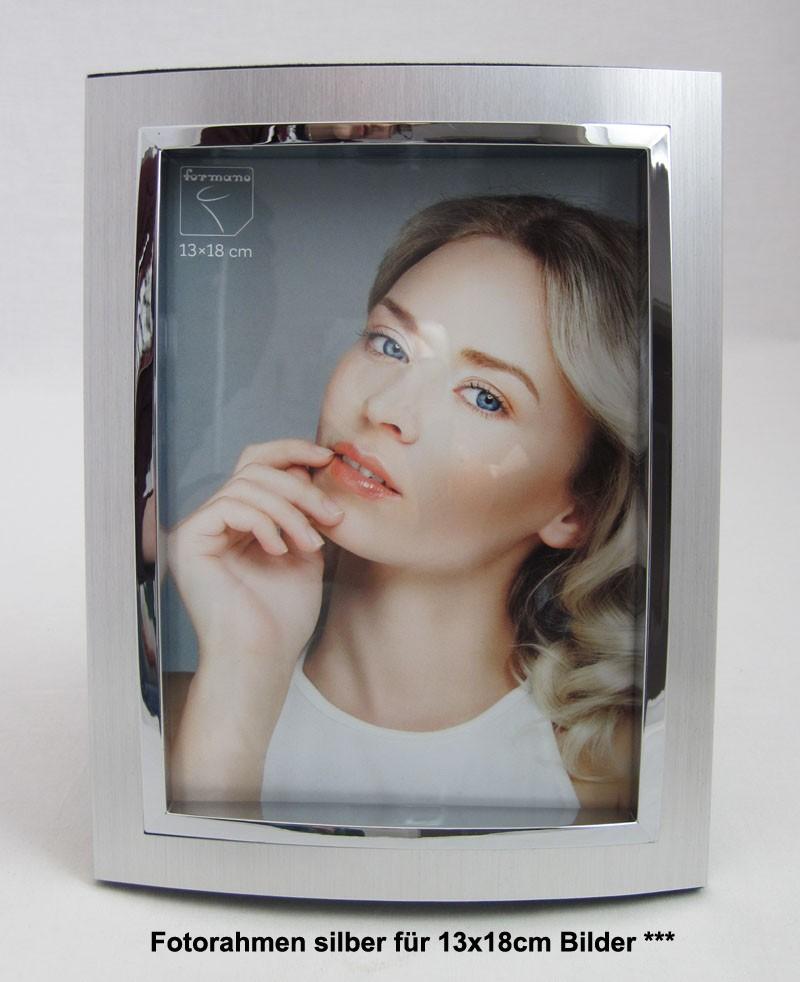 Fotorahmen Bilderrahmen 13 x 18 cm silber