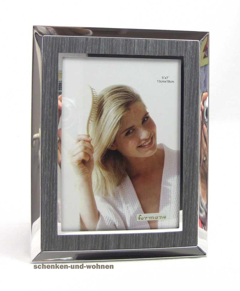 Fotorahmen Bilderrahmen 13 x 18 cm, silber - grau