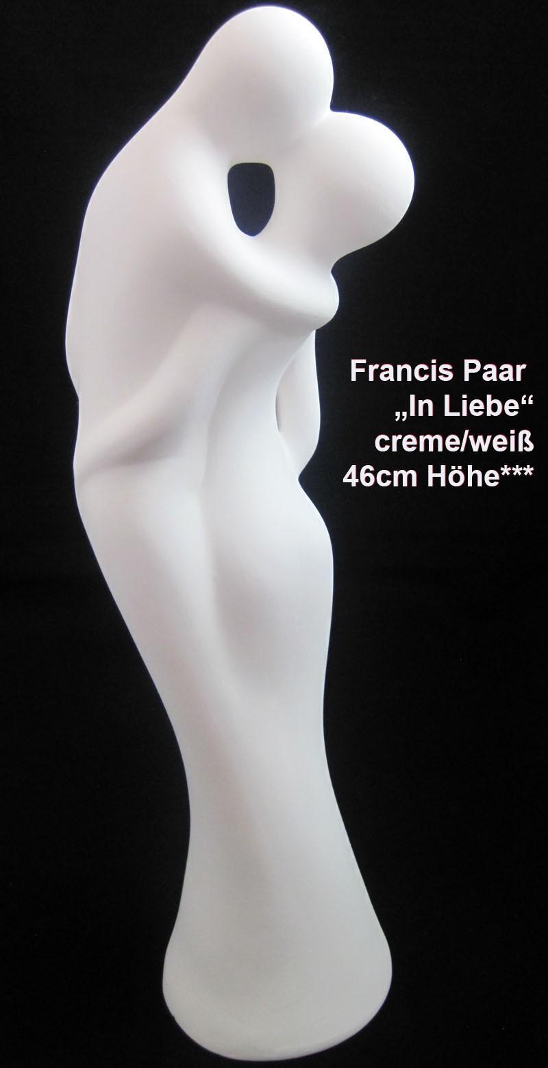 """Francis Paar """"In Liebe"""" - Skulptur, Creme Höhe ca. 46 cm"""