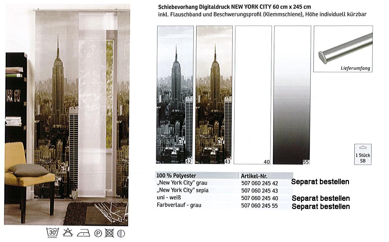 Schiebevorhang Digitaldruck New York City sepia, ca. 60 x 245 cm